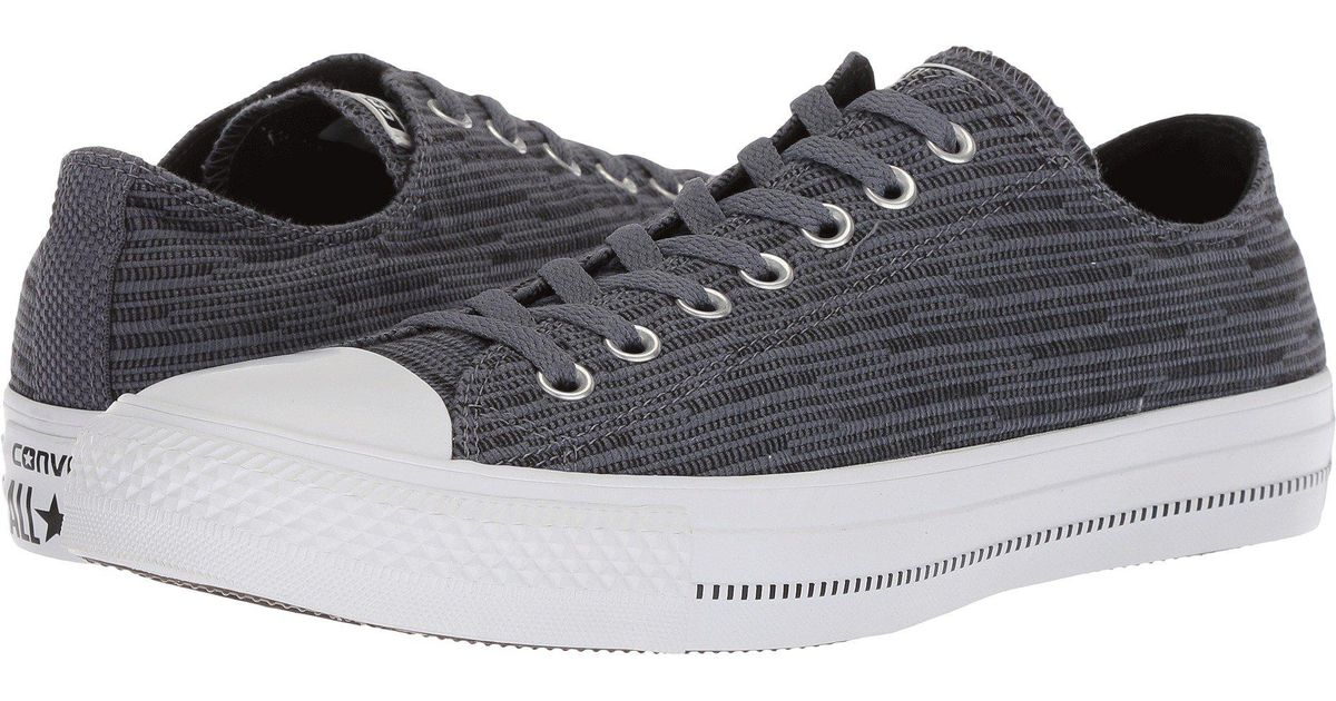 5086f5898d34 Lyst - Converse Chuck Taylor(r) All Star(r) Fashion Textile Ox (light  Carbon black white) Shoes in Black for Men