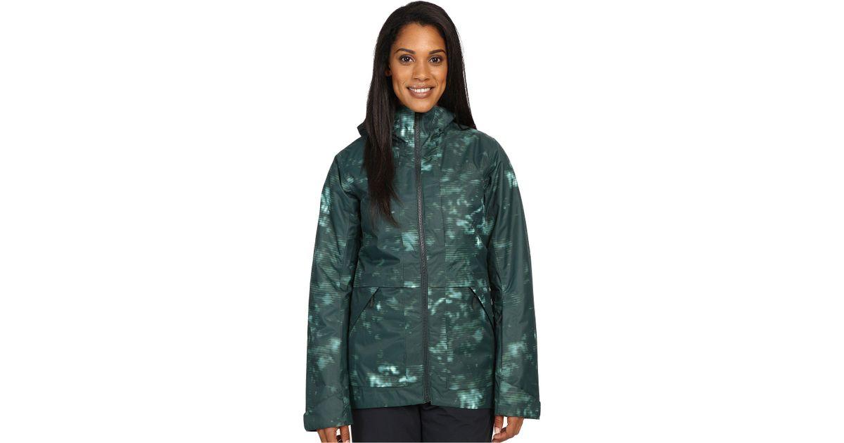 1548b4cb3826f The North Face Nevermind Jacket (darkest Spruce Jungle Camo Print (prior  Season)) Women's Coat - Lyst