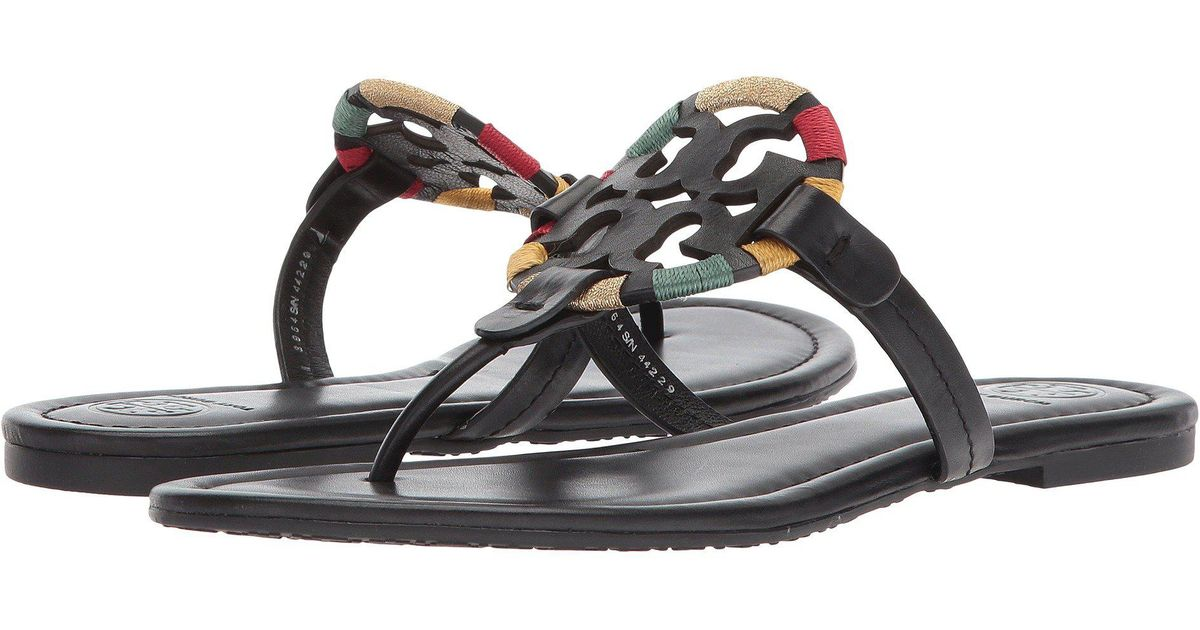 2e13a5548 Lyst - Tory Burch Miller Embroidered Sandal in Black