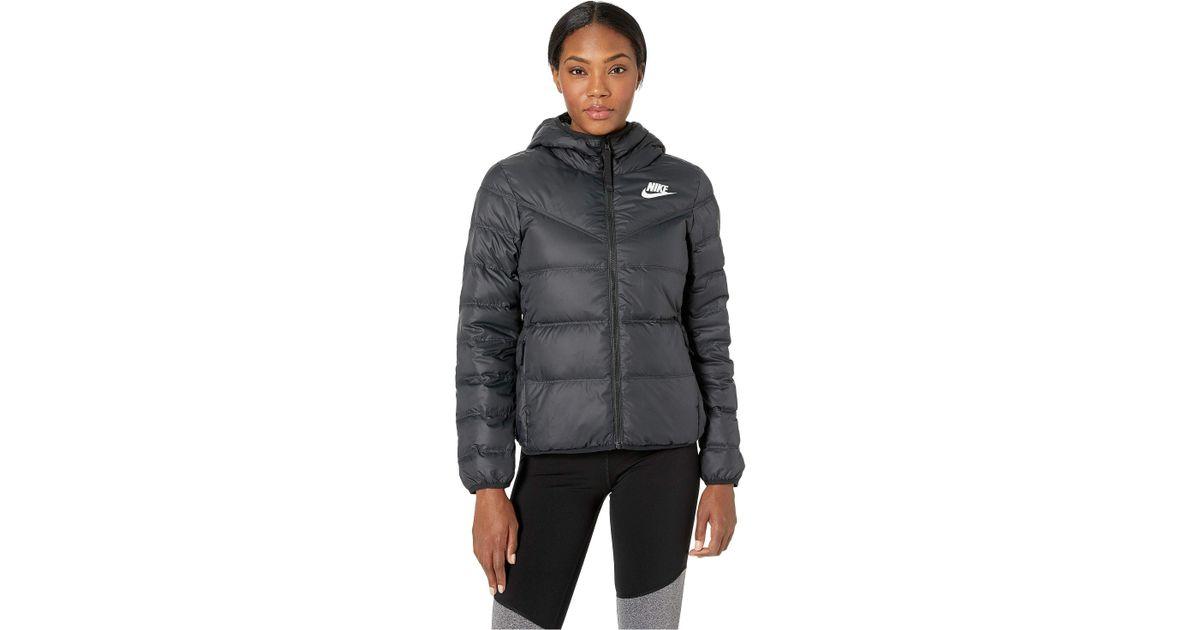59e8bdbee6918 Nike Black Sportswear Windrunner Down Fill Jacket Reversible