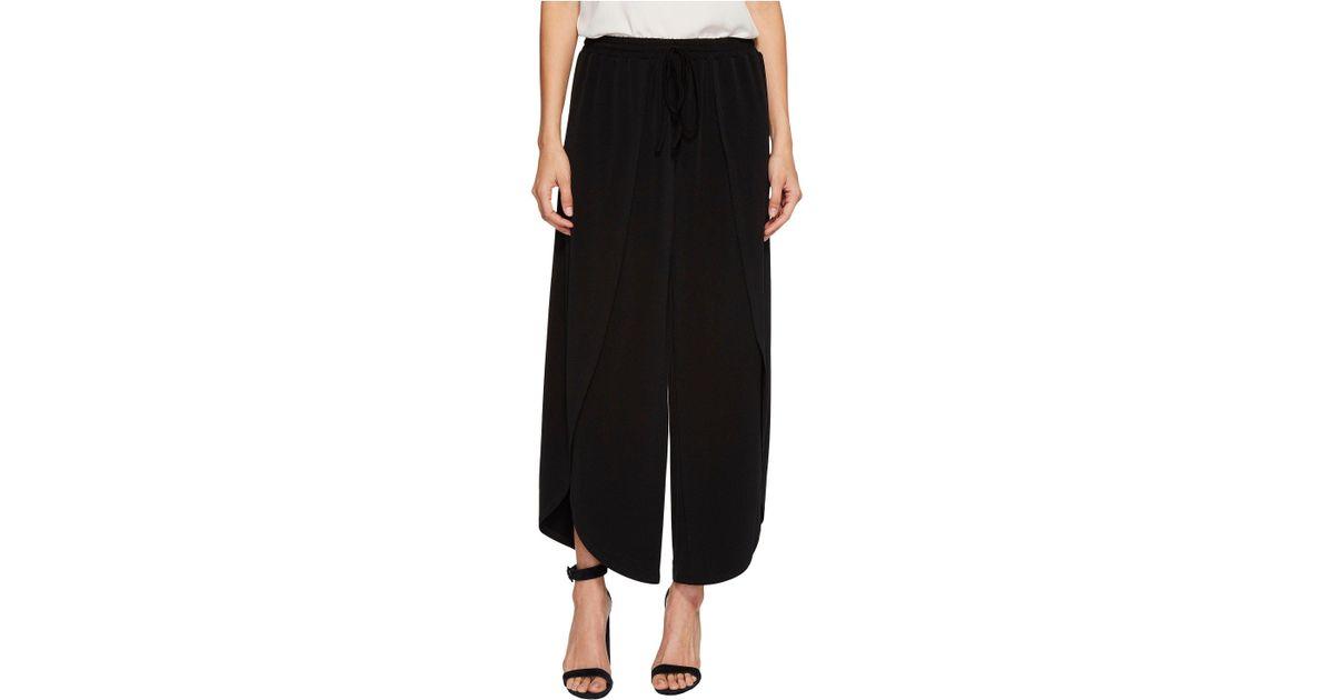 3b7bceea0d7c Lyst - 1.STATE Wide Leg Envelope Hem Pants in Black