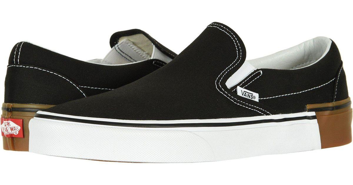 ec47a0cd0ea Lyst - Vans Classic Slip-ontm ((muted Metallic) Red gold) Skate Shoes in  Black for Men
