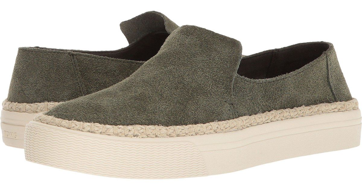 58904272630 Lyst - TOMS Sunset (black Suede) Women s Slip On Shoes