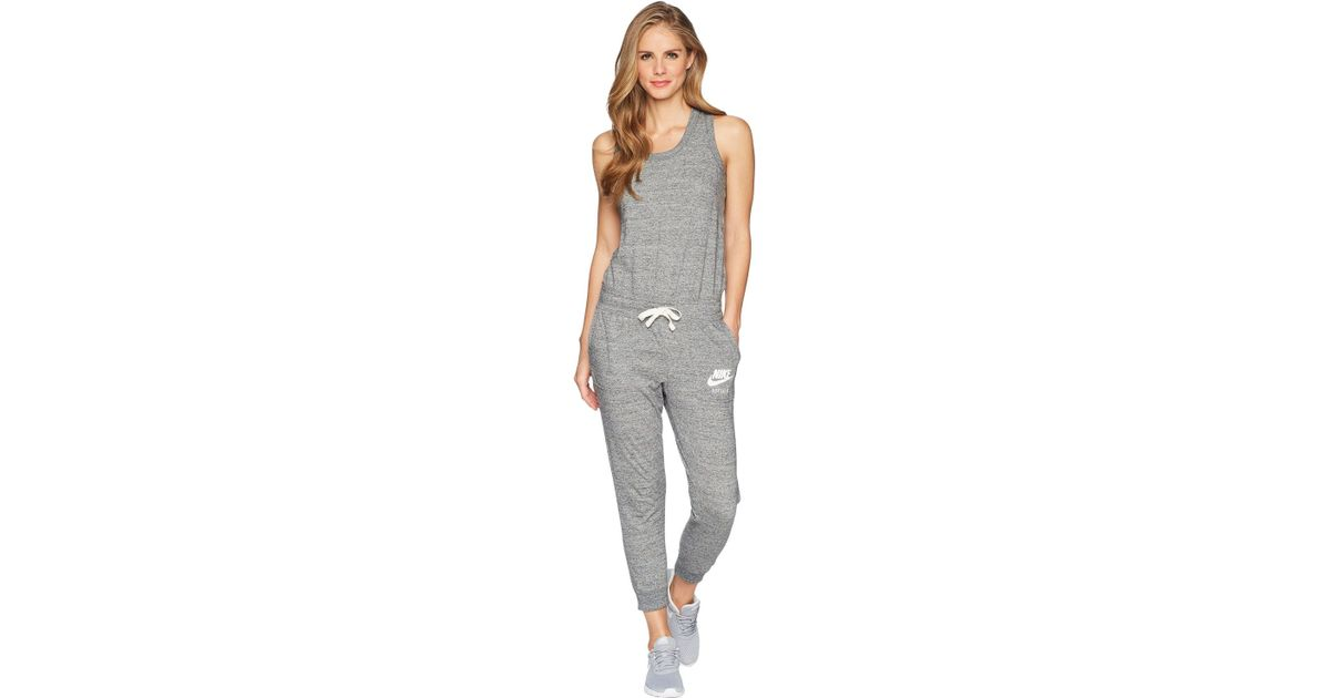 finest selection fcfbe ab5d9 Nike Sportswear Gym Vintage Romper (black sail) Women s Jumpsuit   Rompers  One Piece in Gray - Lyst