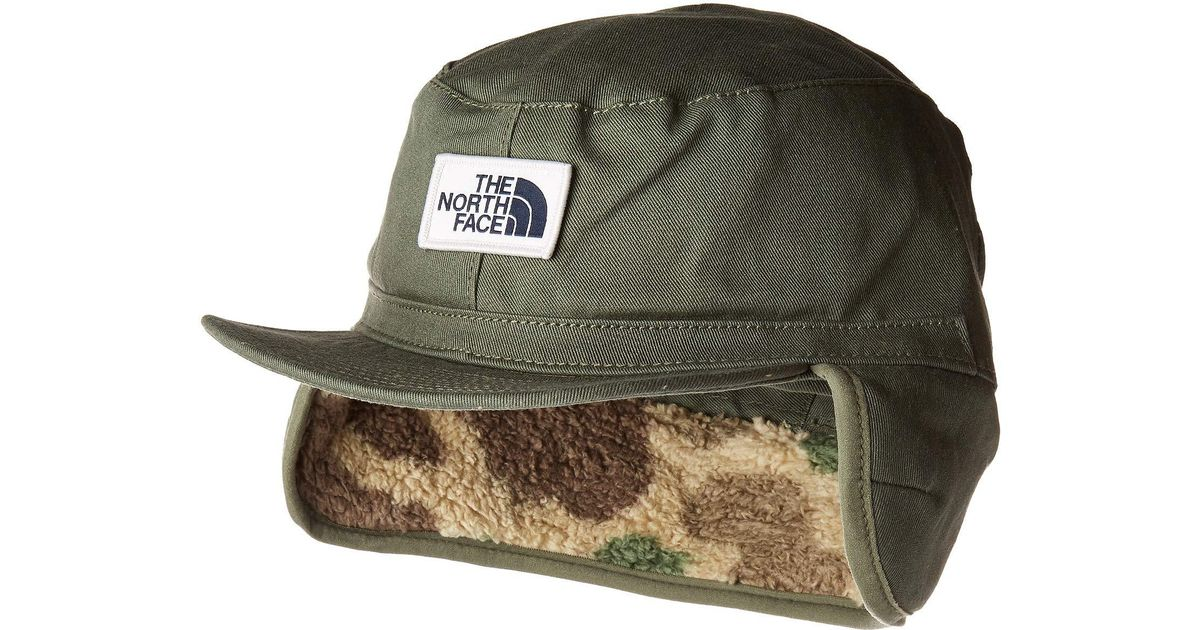 Lyst - The North Face Campshire Earflap Cap in Green for Men - Save 30% 700b2f3900fc