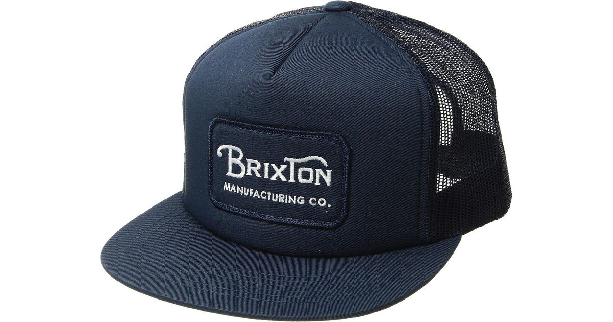 1138ab378 Brixton Blue Grade High Profile Adjustable Mesh Hat for men