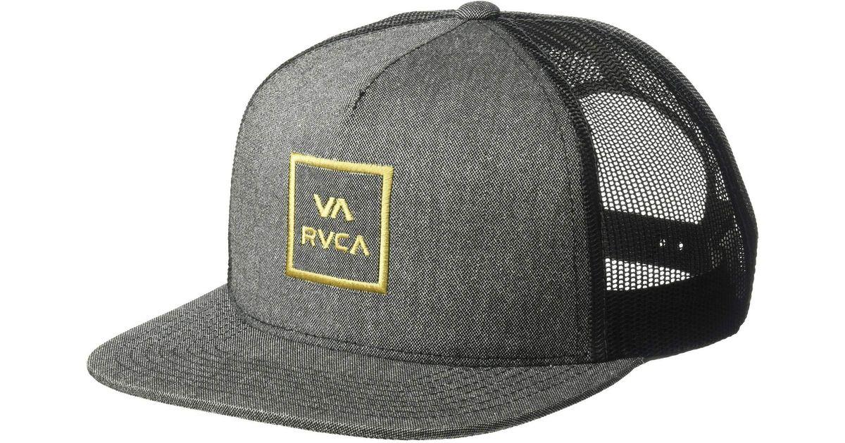 superior quality 7cb3d 81b22 RVCA Va All The Way Trucker (dark Charcoal Heather) Caps in Gray for Men -  Lyst
