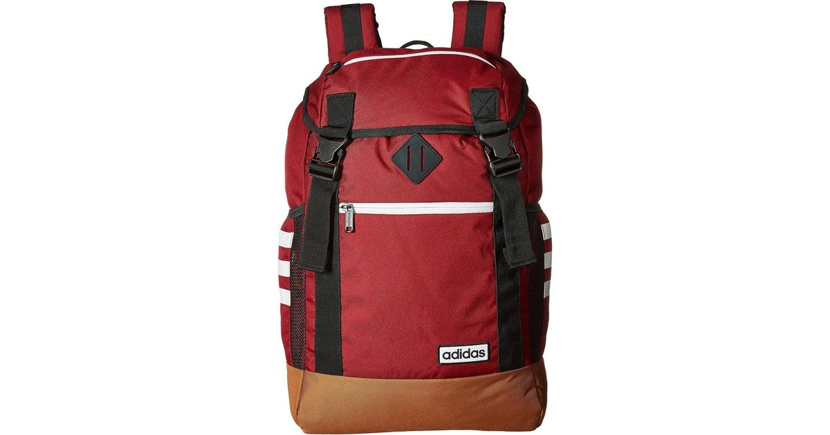 Resolver puente Manhattan  adidas Synthetic Midvale Backpack (collegiate Burgundy Timber/neo White)  Backpack Bags in Red for Men - Lyst