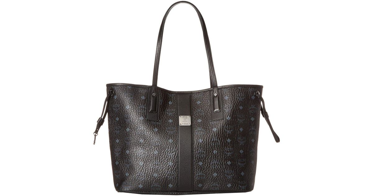Lyst Mcm Reversible Liz Medium Per In Visetos Beige Handbags Black