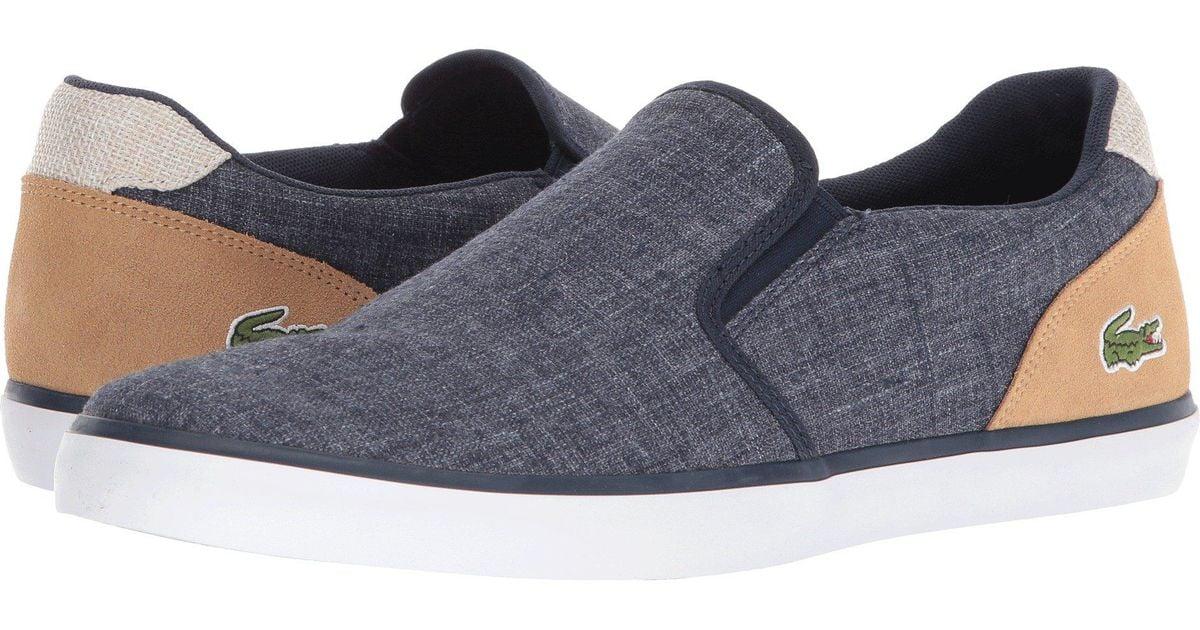 ed9f0939 Lacoste Blue Jouer Slip-on 218 1 (white/dark Red) Men's Shoes for men
