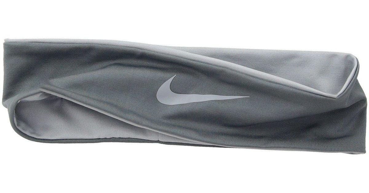 Lyst - Nike Narrow Cooling Headband in Gray f99bd8f5234