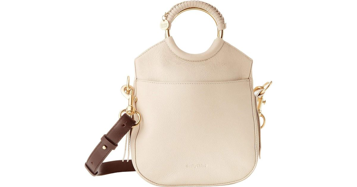 e0a3b5f5fb2 See By Chloé Natural Monroe Small Bracelet Tote (motty Grey) Tote Handbags
