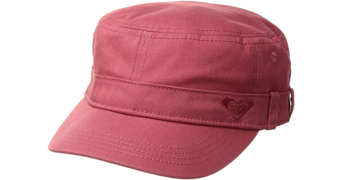 e3e5e8126 Roxy Red Castro Military Cap (holly Berry) Baseball Caps