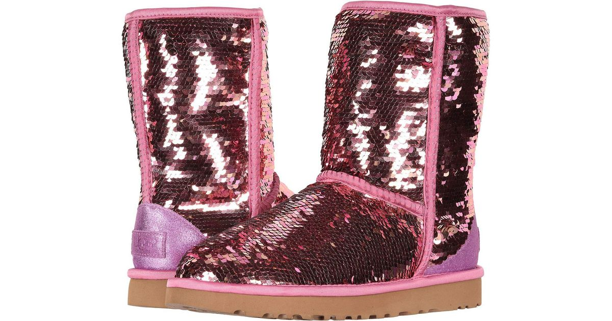 acc504c4462 Ugg Pink Classic Short Sequin (navy) Women's Pull-on Boots