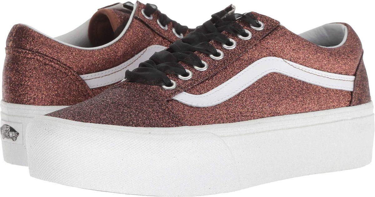 Vans Vans Old Skool Platform ((Checkerboard) BlackTrue White) Skate Shoes from Zappos | ShapeShop