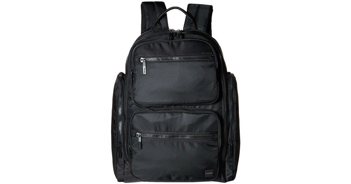 Black Knomo Luggage Mens Denbigh Backpack One Size