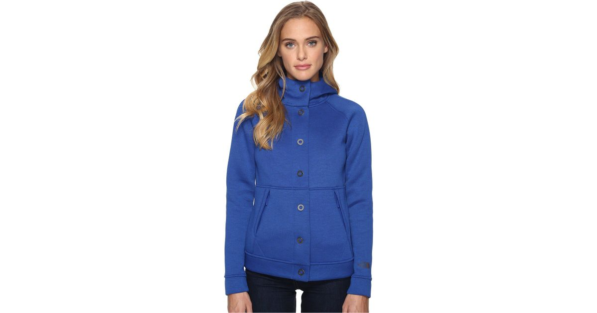 350fe355b The North Face Blue Neo Thermal Snap Hoodie