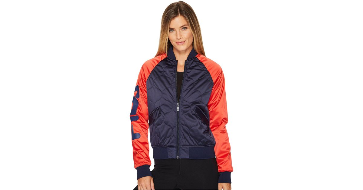 c598fae8410 Fila Petra Quilted Jacket (navy/red/white) Women's Coat in Red - Lyst