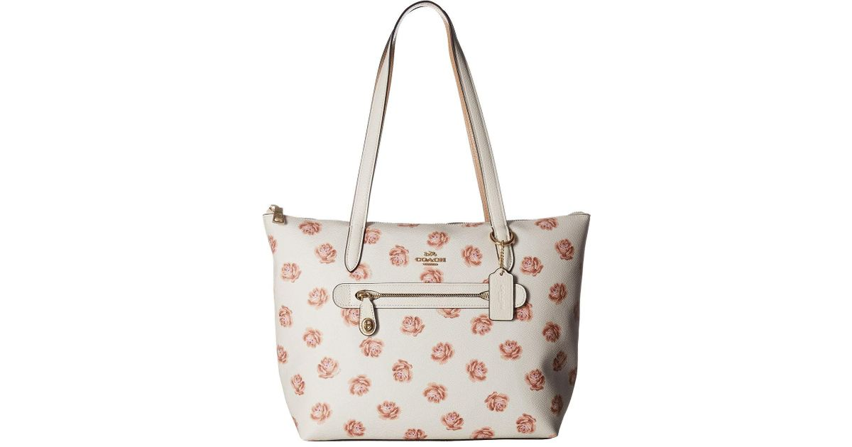 skate shoes discount sale footwear COACH Multicolor Taylor Tote In Floral Printed Leather (gold/oxblood) Tote  Handbags