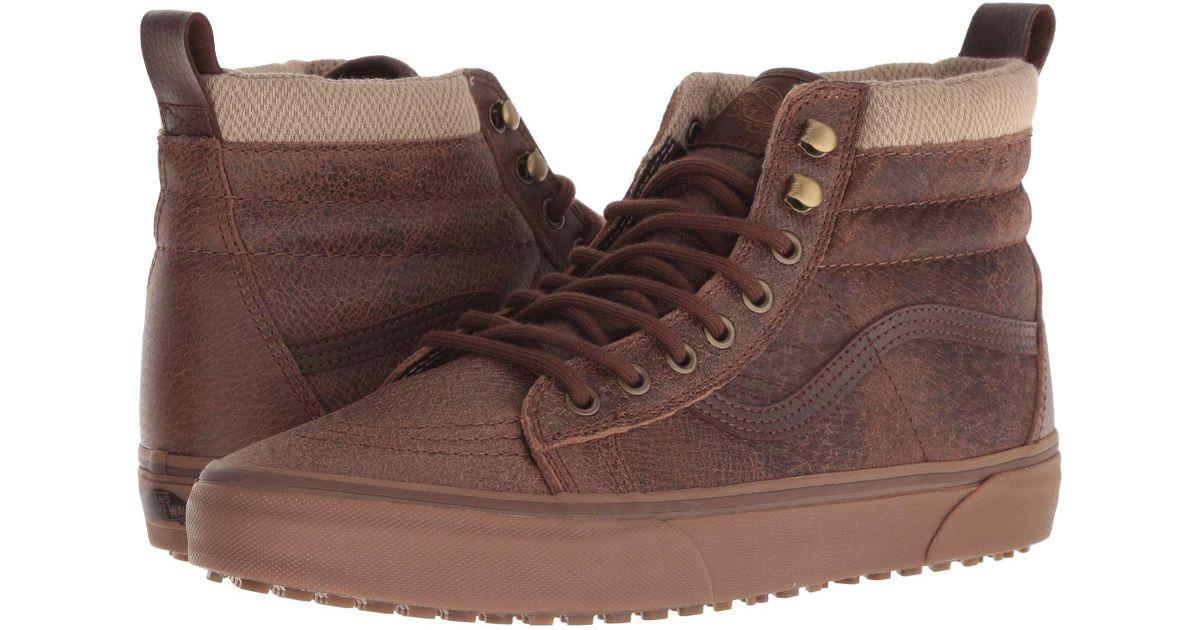 d8623efd13 Lyst - Vans Sk8-hi Mte ((mte) Hot Sauce port Royale) Skate Shoes in Brown