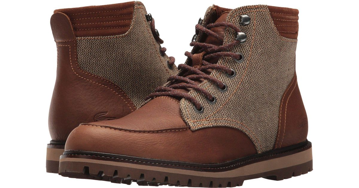 ea6b6652 Lacoste Brown Montbard Boot 417 1 Ankle for men
