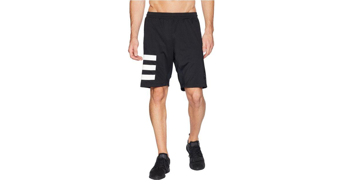 adidas Speedbreaker Vertical Heather Mesh Shorts Men/'s
