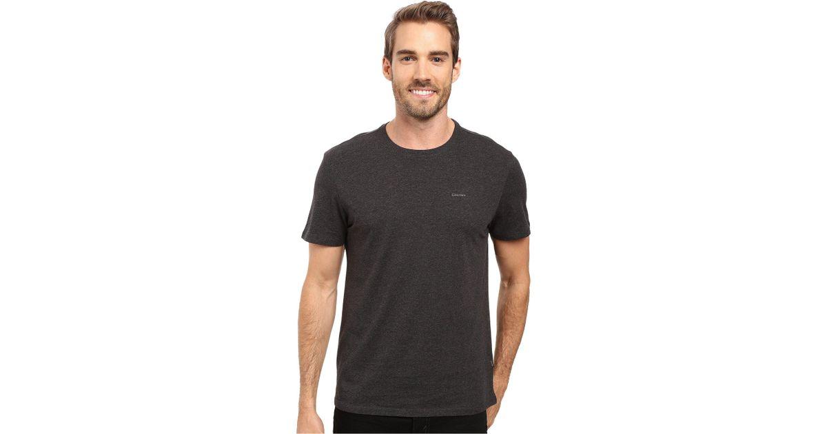 640549aa3 Calvin Klein Short Sleeve Pima Cotton Crew T-shirt (black) Men's T Shirt in  Metallic for Men - Lyst