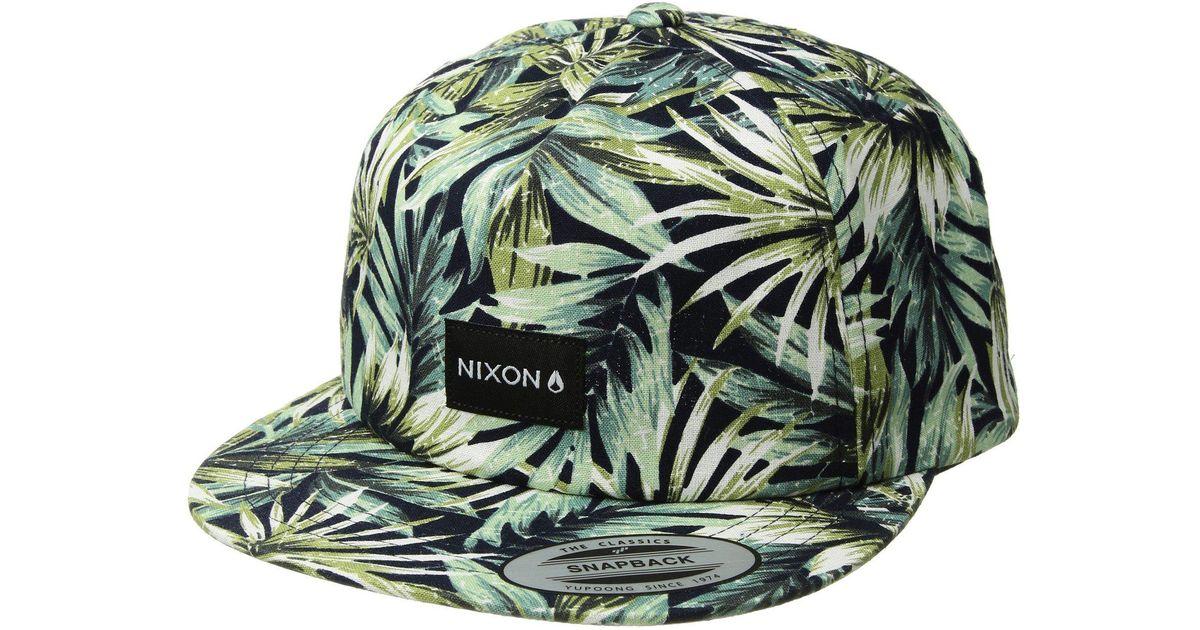 3e7bf046 Lyst - Nixon Tropics Snapback Hat in Blue for Men