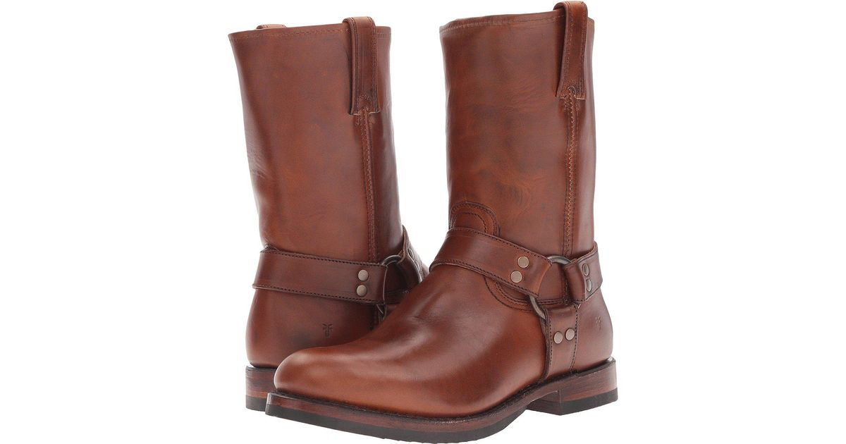 058f467bb08 Lyst - Frye John Addison Harness (whiskey Smooth Pull-up Leather) Men s  Boots in Brown for Men