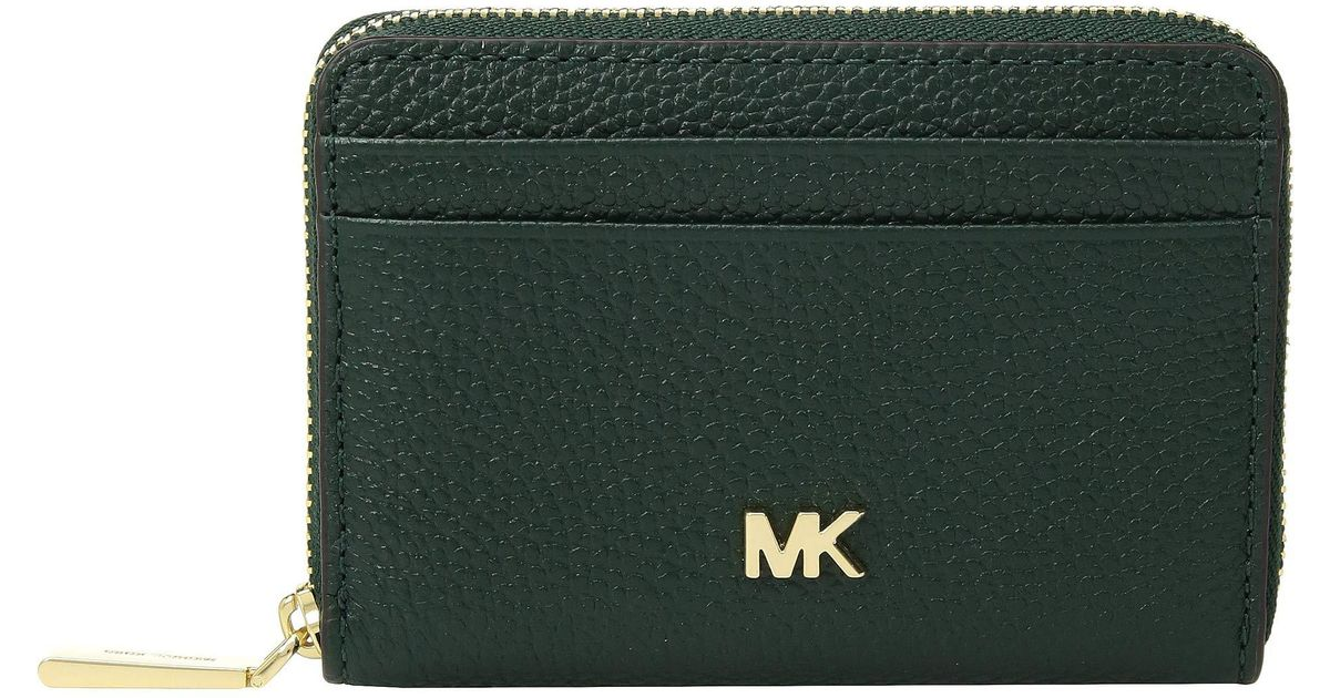 f81ebde80a33 MICHAEL Michael Kors Zip Around Coin Card Case (vanilla/acorn) Credit Card  Wallet in Green - Lyst