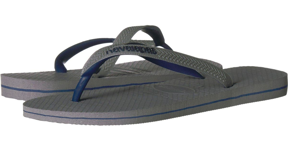1375afdc6887 Lyst - Havaianas Top Logo Filete Mix Sandal in Gray for Men