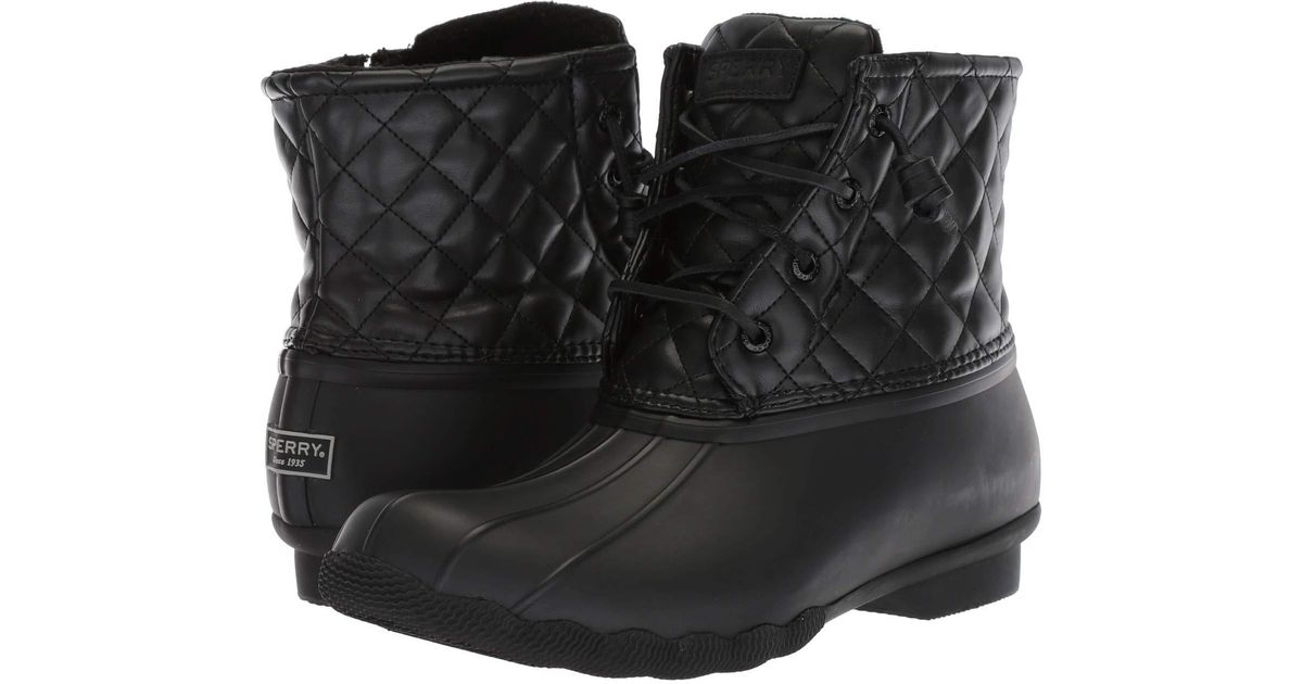 Saltwater Quilted Luxe (black