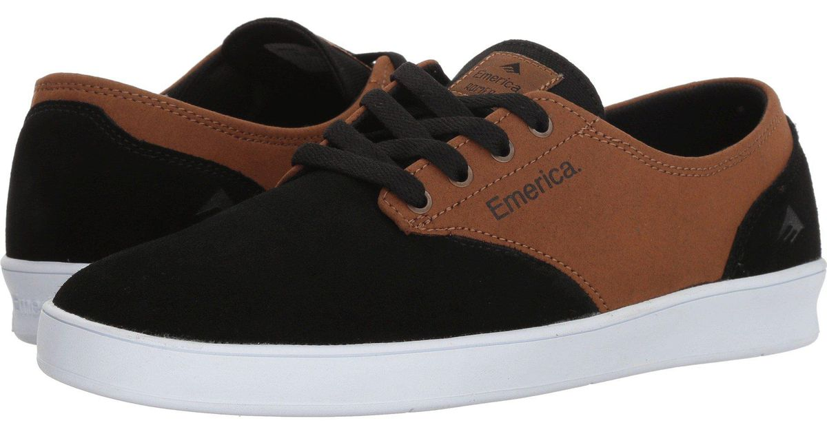 c4a7da3c4bb217 Lyst - Emerica The Romero Laced (black brown) Men s Skate Shoes in Brown  for Men