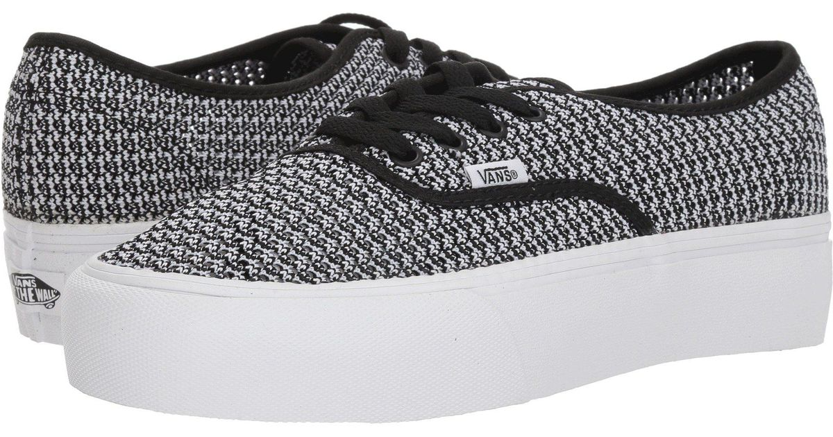 Lyst - Vans Authentic Platform 2.0 ((summer Mesh) Green Sheen true White)  Skate Shoes in Black for Men 1c68e524b