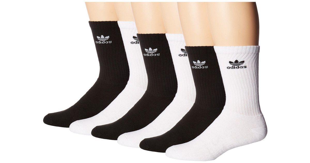 Lyst Adidas Originals Originals Trefoil Crew Sock 6 Pack Heather