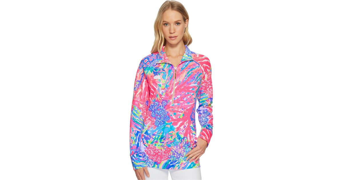 36398b08c3a292 Lilly Pulitzer Upf 50+ Skipper Printed Popover (multi Slathouse Soiree)  Women's Long Sleeve Pullover - Lyst
