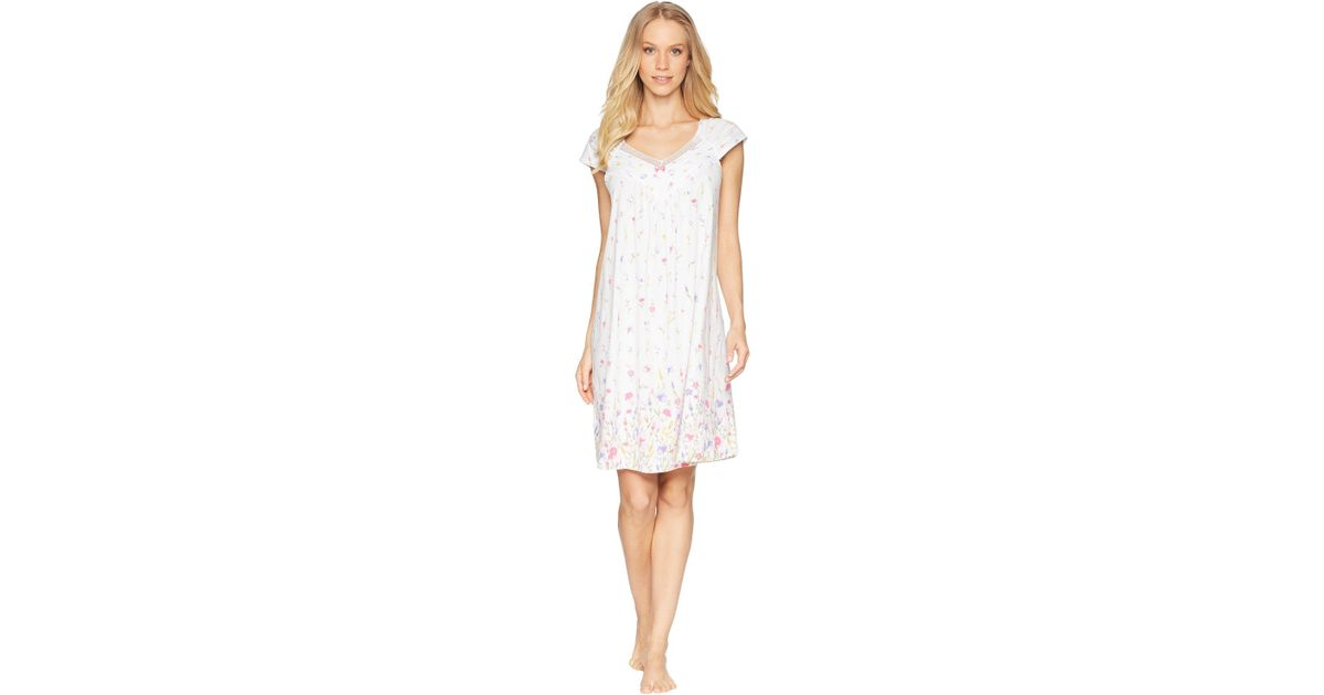 Carole Hochman Chemise & Robe Travel Set In White