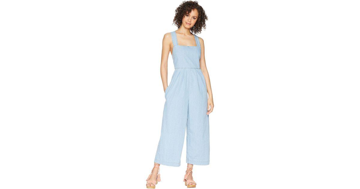 756adaaa3349 Lyst - Free People Fara Jumpsuit - Indigo in Blue - Save 37%