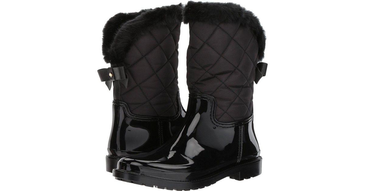 28b39bb620d8 Lyst - Kate Spade Reid Snow Boot in Black