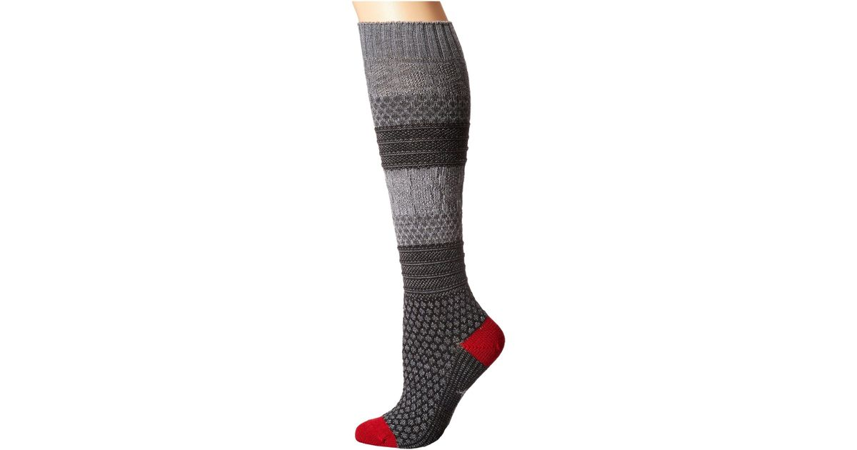 b30ee8d1f Lyst - Smartwool Popcorn Cable Knee Highs (medium Gray) Women s Knee High  Socks Shoes in Gray