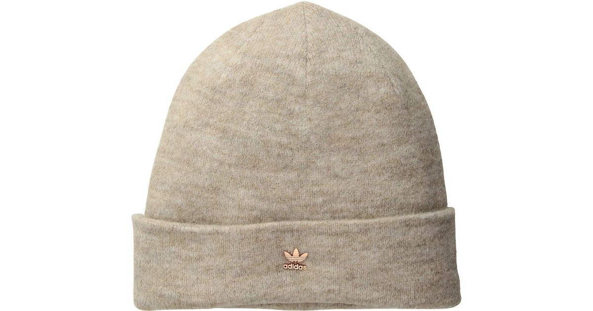 Lyst - Adidas Originals Originals Fuzzy Beanie (black antique Gold) Beanies  in Metallic 5140de7613e