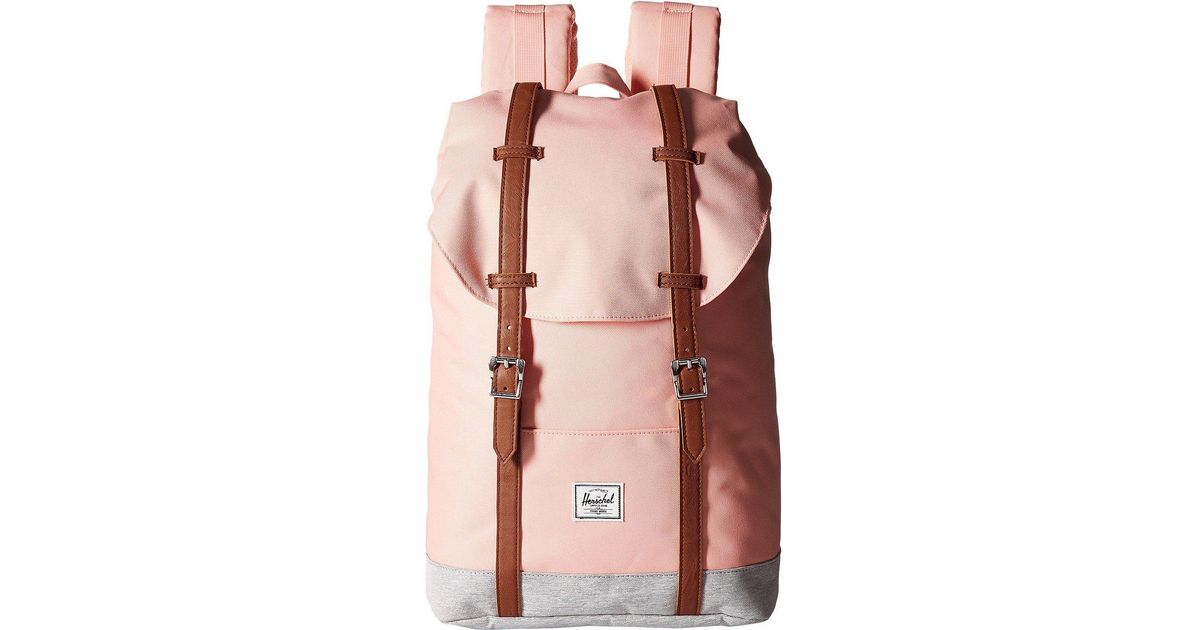 ffd54d9559 Lyst - Herschel Supply Co. Retreat Mid-volume (black tan Synthetic Leather)  Backpack Bags for Men