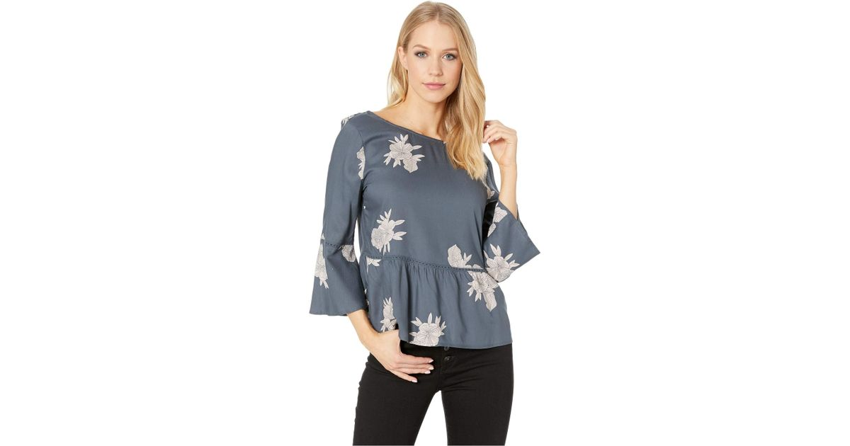 221901bf5471 Lyst - Roxy Broadway Colors Top (turbulence Rose pearls) Women s Clothing  in Blue