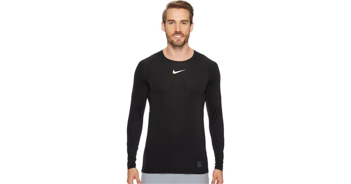 df08093e Lyst - Nike Pro Fitted Long Sleeve Training Top (obsidian/white/white) Men's  Long Sleeve Pullover in Black for Men