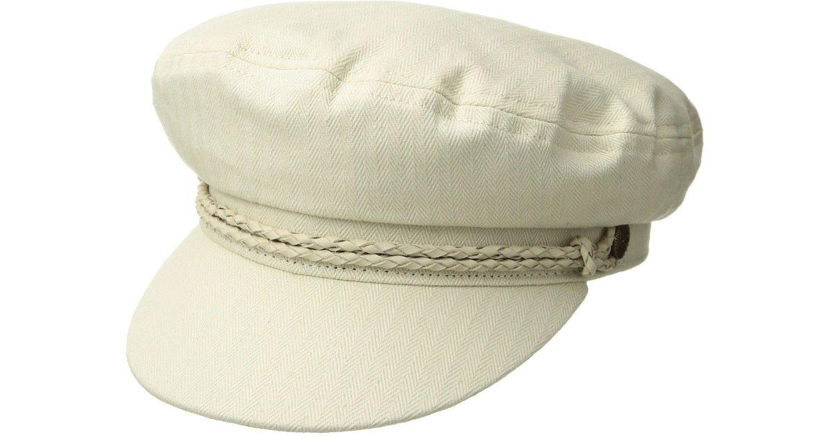 02b7ec695 Brixton White Ashland Cap (orion Blue/brown) Caps