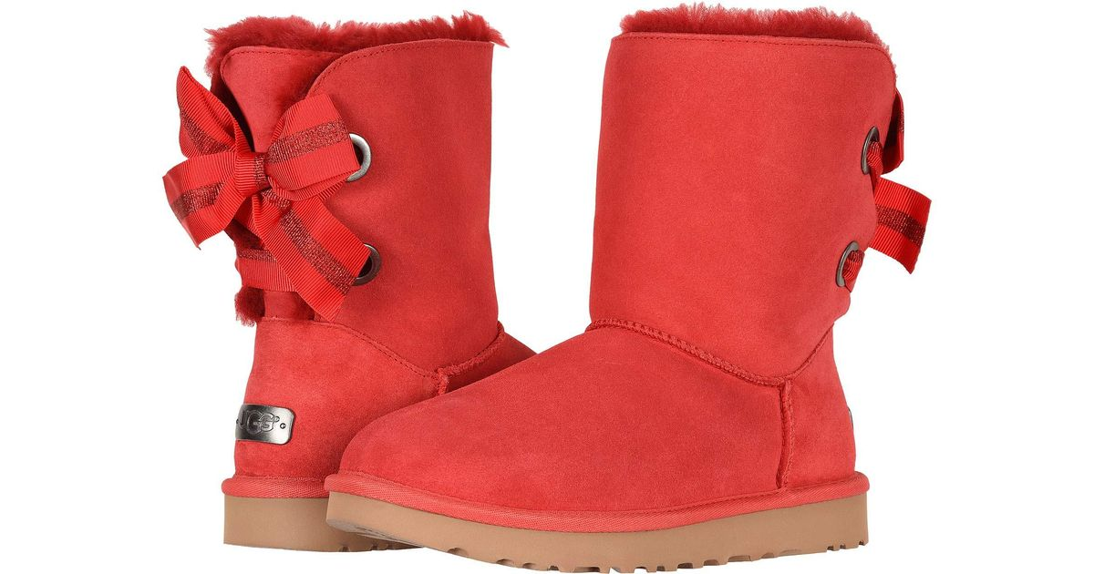 e27c6f78faf Ugg Red Customizable Bailey Bow Short (seashell Pink) Women's Pull-on Boots