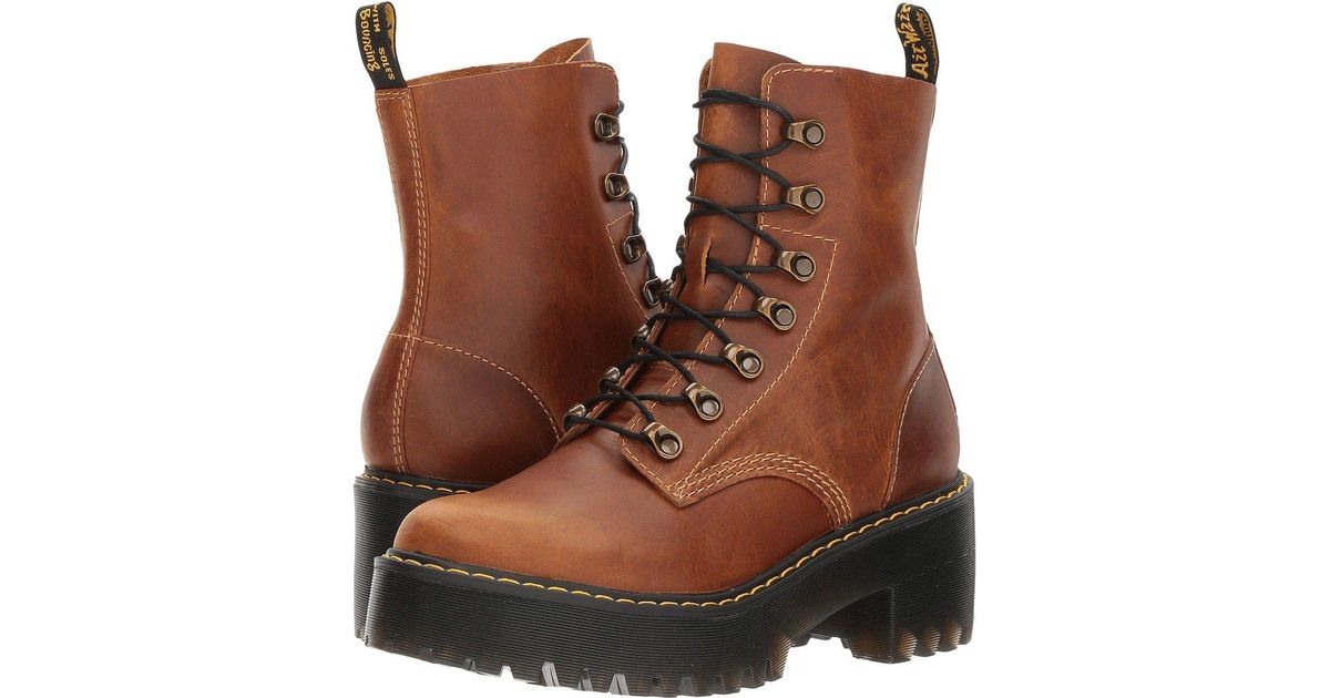 147aab92f45 Dr. Martens Brown 1460 Leona Vintage Smooth Boots