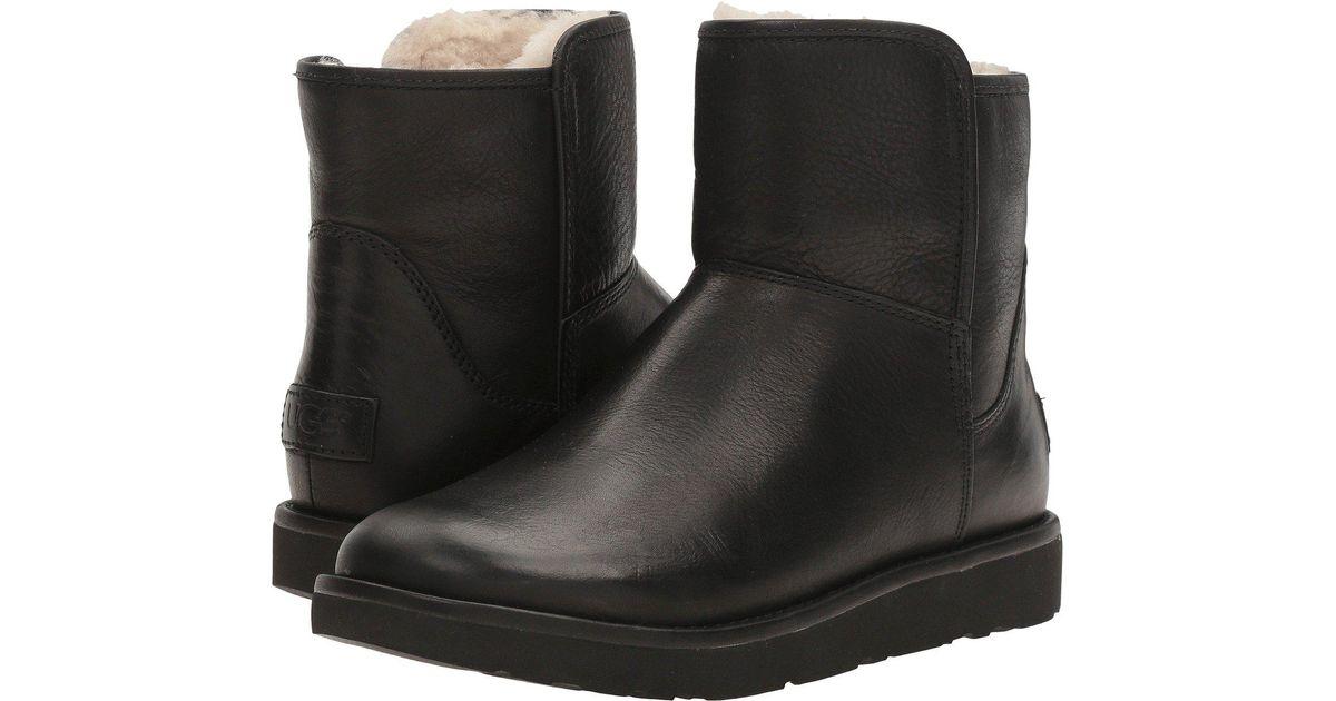 e9df0b62204 Ugg Black Abree Mini Leather Boots Nero
