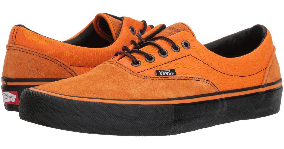 Lyst - Vans Era Pro X Spitfire Collab ((spitfire) Cardiel orange) Men s Skate  Shoes in Orange for Men 1021a8231