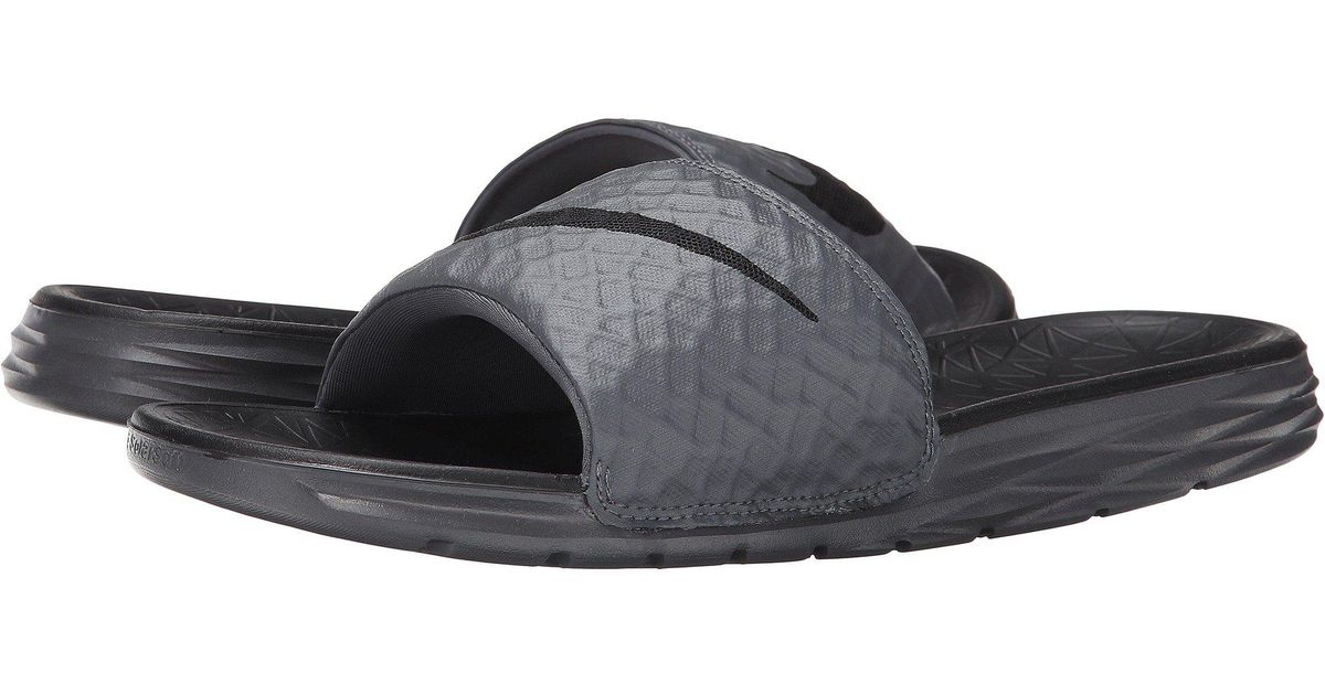 online store ef5fd 65b8b Lyst - Nike Benassi Solarsoft Slide 2 (dark Grey black) Men s Slide Shoes in  Gray for Men - Save 24%